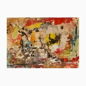 Messy Colourful Abstract, 20th-Century, Watercolor by Z. Krajewska