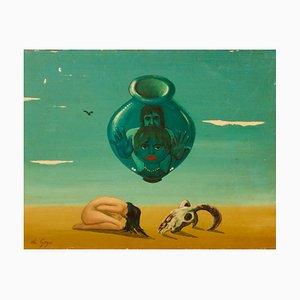Mirage, Mitte des 20. Jahrhunderts, abstraktes Öl auf Holz, George De Goya, 1970er