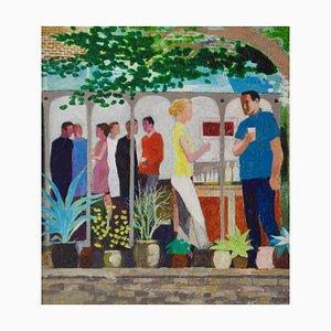 The Garden Party II, Impressionist Oil, von Frank Hill, 1970