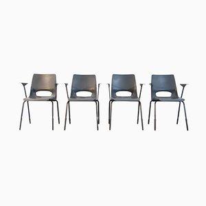 Industrielle Esszimmerstühle von Philippus Potter f´ür Ahrend de Cirkel, 4er Set