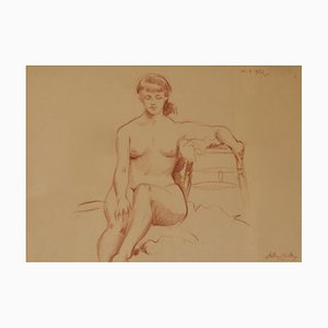 Helen, Mitte des 20. Jh., Figurative Nude Lady, Arthur Royce Bradbury, Bleistift, 1952