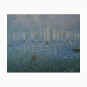 Daybreak on the Sea, Impressionniste, Bateaux à Voile, William Mason, 1935