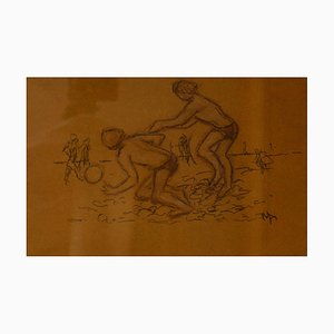 Sommerferien, spätes 20. Jahrhundert von Kids on the Beach, Muriel Archer, 1970