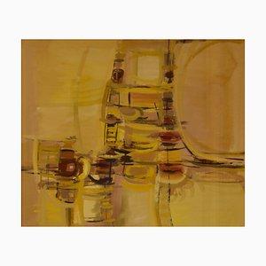 Abstrakte Rush Hour, Mitte des 20. Jahrhunderts, abstraktes Stück von John Bolam, 1960er