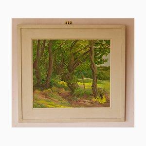 Into the Forest, metà XX secolo, paesaggio ad olio di Dorothy King, anni '50