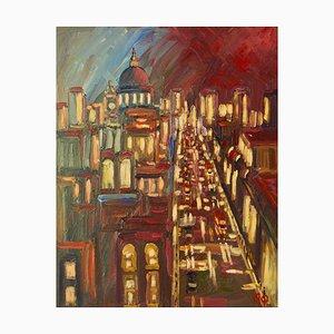 Early Morning City de Londres, finales del siglo XX, acrílico de Michael Quirke, 1995