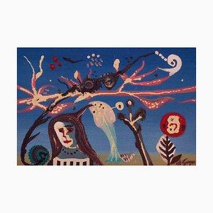 Pieza abstracta al óleo autónoma, de mediados del siglo XX, George De Goya, 1973