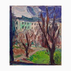Huile sur Toile Impressionniste Centre de Londres, Début 20ème Siècle par Gwen Collins, 1930s