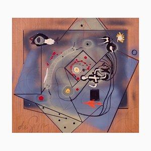 Der Tod des Minotauren, Mitte des 20. Jahrhunderts, Mixed Media Abstract von George De Goya, 1960er