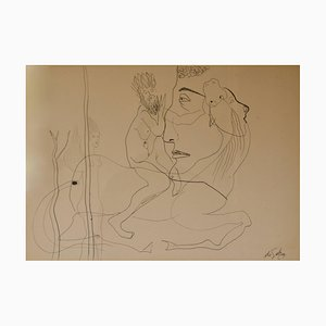 Abstrakter Mann auf Pferd, frühes 20. Jh., George De Goya, 1935