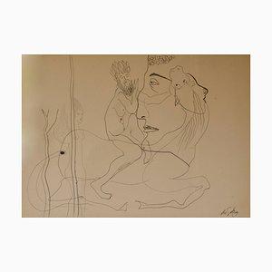 Hombre abstracto a caballo, principios del siglo XX, George De Goya, 1935