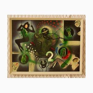Conquerors Q, ciencia ficción abstracta de Dr Who, mediados del siglo XX, George De Goya, años 70