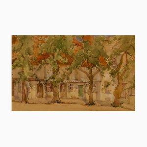 Acuarela impresionista del sur de Francia, principios del siglo XX de Bennett, años 20