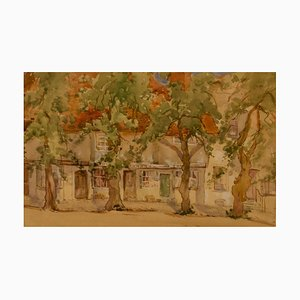 South of France, Early 20th-Century, Impressionist Watercolour by Bennett, 1920s