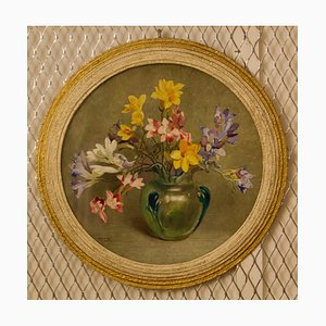 Flowers, Mid-Century, Watercolour de Arthur Wilson Gay, British Still Life, años 50