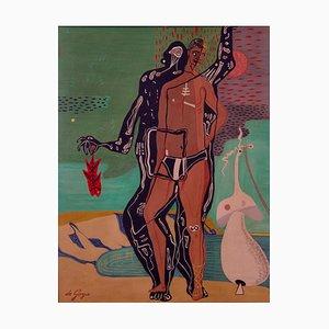 Evolution, Spätes 20. Jh., Abstrakte Ölgemälde, George De Goya, 1980er