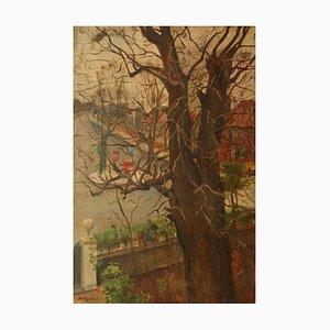 Künstleradresse, Impressionistisches Öl, Dorothy King, London, 1959