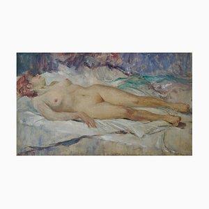 Peinture à l'Huile de Femme Nue par Arnold Beauvais, 1940s
