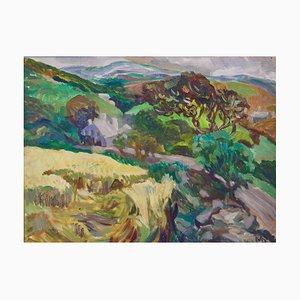 Paisaje de Provence France, principios del siglo XX, óleo impresionista, Muriel Archer, 1935
