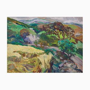 Provence France Landscape, Early 20th-Century, Impressionist Oil, Muriel Archer, 1935