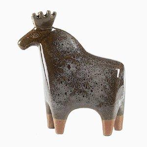 Large Stoneware Stora Zoo (Large Zoo) Series Elk or Moose by Lisa Larson for Gustavsberg, 1957