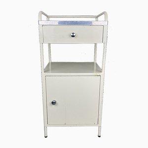 Vintage Industrial Medical Bedside Cabinet, Italy, 1960s
