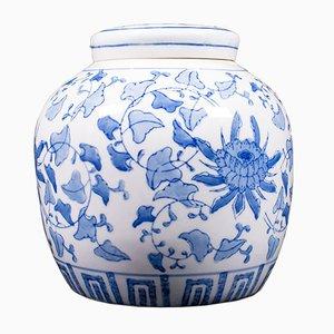 Vintage orientalisches dekoratives Gewürzgefäß aus Keramik, 1940er