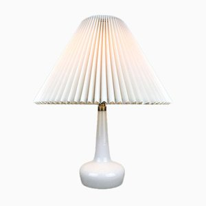 Danish White Glass 311 Table Lamp from Le Klint & Holmegaard
