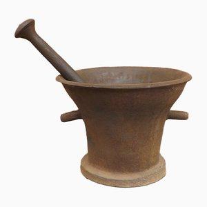 Antiker Apothekenmörser aus Eisen mit Stößel, 16. Jh., 2er Set