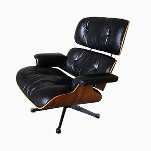 Model 670 Leather Lounge Chair by Charles and Ray Eames for Vitra, 1970s