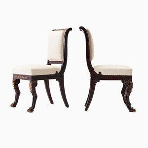 Französische Beistellstühle, frühes 19. Jh., 2er Set