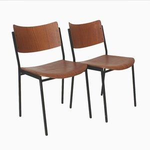 Esszimmerstühle aus Teakholz, 1960er, 2er Set