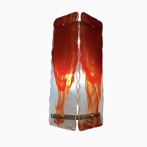 Large Red Murano Glass Sconces, Set of 2