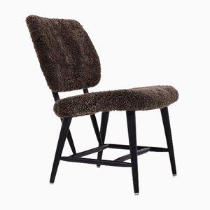 Easy Chair in Dark Brown Fur