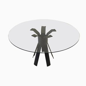 Italian Longobardo Dining Room Table by Angelo Mangiarotti, 1970s