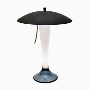 Schwedische Vintage Glas Tischlampe von Goran Warff für Kosta Boda