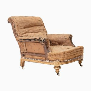 19th Century English Country House Giltwood Armchair