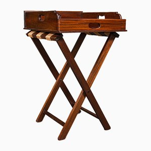 Mueble de servicio inglés victoriano antiguo de caoba, década de 1900