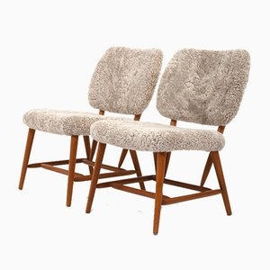 Easy Chairs in Fur, Set of 2