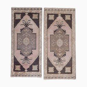 Kleine türkische Teppichmatten, 2er Set