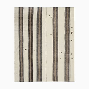 Vintage Striped Hemp Kilim Rug