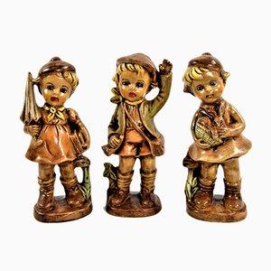 Porcelain Figurines, 1940s, Set of 3