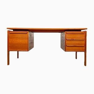 Danish Teak Writing Desk by GV Gasvig for GV Møbler, 1960s
