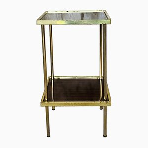 Vintage Formica and Brass Side Table, 1973