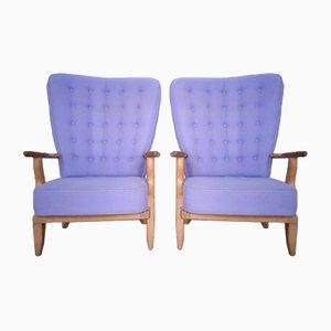 Grand Repos Armchairs by Guillerme Et Chambron for Votre Maison, Set of 2