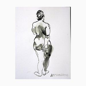 Standing Back Nude by Wim Van Broekhoven