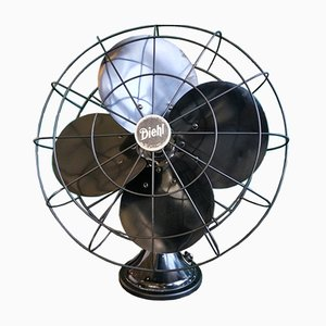 Large Vintage Oscillating Table Fan from Diehl, USA, 1930s