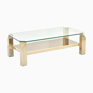 23 Karat Gold-Plated Coffee Table from Belgo Chrom / Dewulf Selection, 1960s