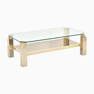 Tavolino da caffè placcato in oro a 23 carati di Belgo Chrom / Dewulf Selection, anni '60