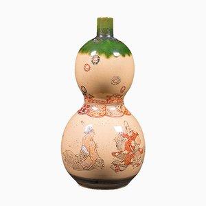 Vaso Gerbera antico in ceramica, Giappone, inizio XX secolo